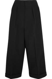 Marni Pleated linen-blend wide-leg pants