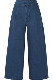 Marni Cropped denim wide-leg pants