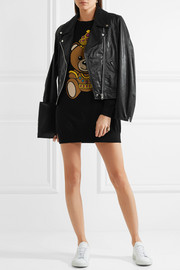 Moschino Intarsia cotton-jersey mini dress