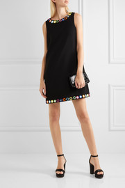 Moschino Embellished crepe mini dress
