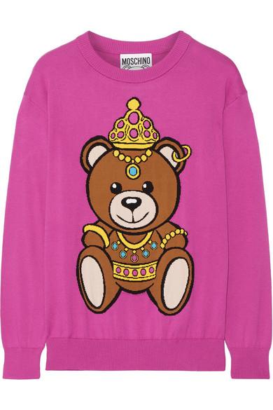 Moschino - Intarsia Cotton Sweater - Pink