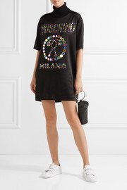 Moschino Embellished jersey mini dress