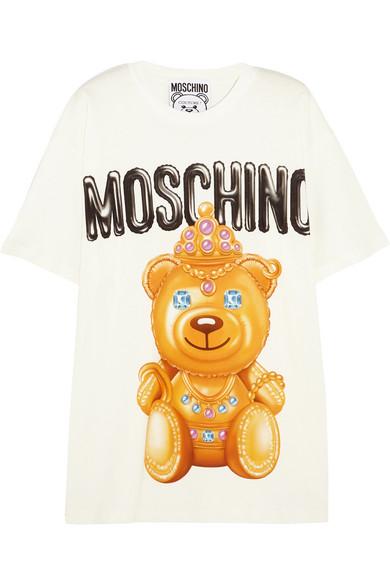 Moschino - Printed Cotton T-shirt - White