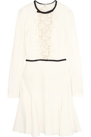 Giambattista Valli Guipure lace-paneled crepe mini dress