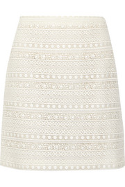 Giambattista Valli Cotton-blend lace skirt