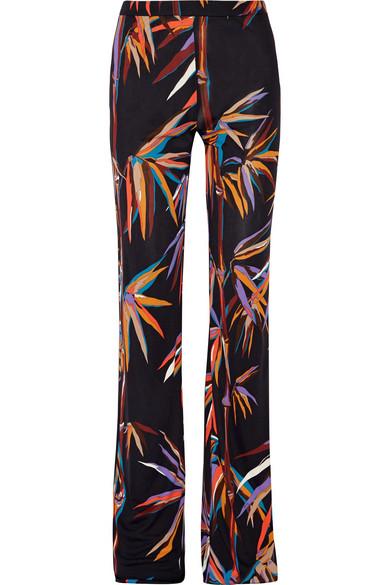 Emilio Pucci - Printed Stretch-jersey Wide-leg Pants - Black