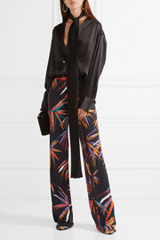 Emilio Pucci Printed stretch-jersey wide-leg pants