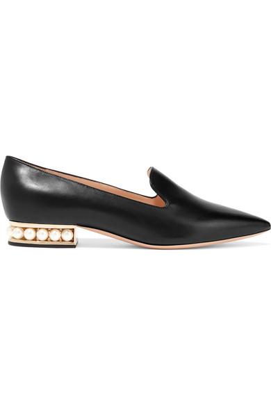 Nicholas Kirkwood - Casati Embellished Leather Loafers - Black