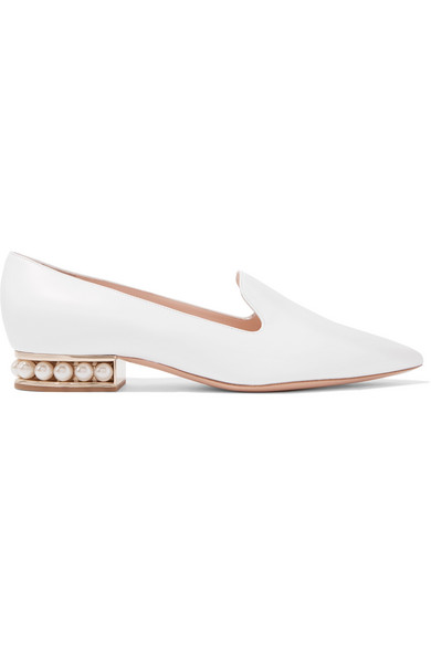 Nicholas Kirkwood - Casati Embellished Leather Loafers - White