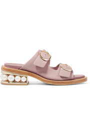 Nicholas Kirkwood Casati embellished leather slides