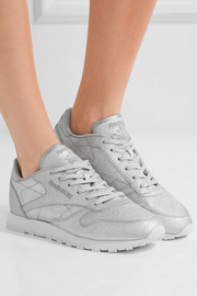 Classic metallic leather sneakers