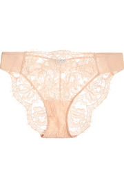 La Perla Lace Story leavers lace, tulle and satin briefs