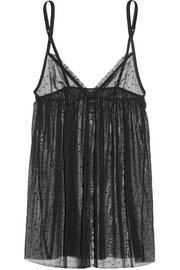 Plumetis stretch point d'esprit tulle chemise
