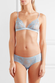 La Perla Airy Blooms silk-blend Leavers lace soft-cup triangle bra
