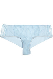 Airy Blooms Leavers lace and stretch-jersey briefs