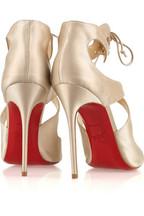 Christian Louboutin Marechale 100 satin sandals