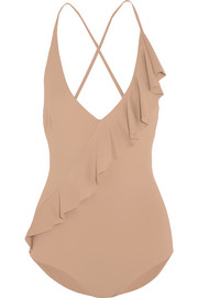 Palisades ruffle-trimmed swimsuit