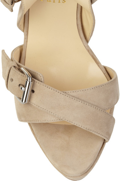 christian louboutin toutenkaboucle 150 suede buckle sandals