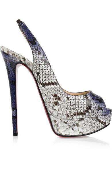 new product e40d5 ca853 Lady Peep 150 python slingbacks