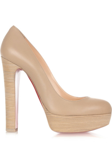 christian louboutin bibi 140 leather platform pumps