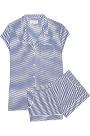 Olivia polka-dot cotton-poplin pajama set