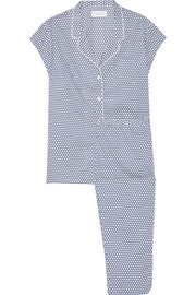 Poppy polka-dot cotton-poplin pajama set