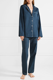 Macgill cotton-poplin pajama set