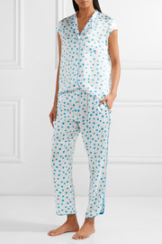 Poppy printed silk-charmeuse pajama set