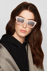Square-frame matte-acetate sunglasses