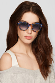 Square-frame acetate sunglasses
