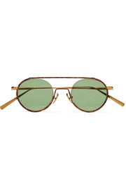 Acne Studios Winston round-frame acetate and gold-tone sunglasses