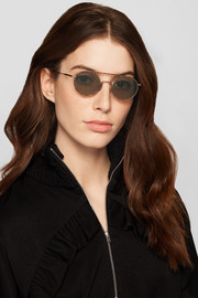 Winston round-frame acetate and gold-tone sunglasses