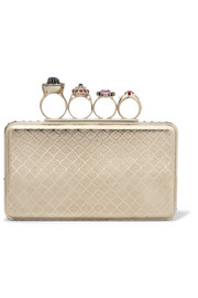 Alexander McQueen Jewelry embellished gold-tone box clutch