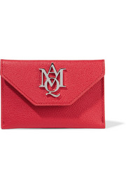 Alexander McQueen Insignia textured-leather cardholder