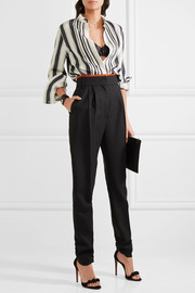 Haider Ackermann Pleated striped silk shirt
