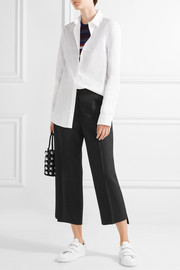 Iris cropped wool-twill wide-leg pants