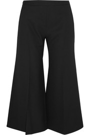 Acne Studios Isa cropped wool-twill flared pants