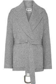 Acne Studios Lilo Doublé belted wool and cashmere-blend coat