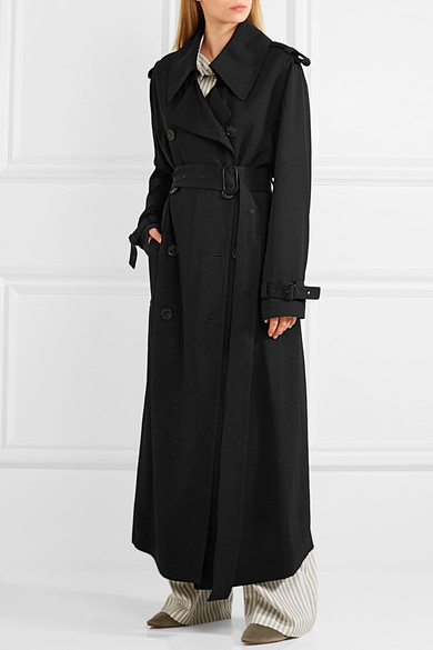 brand new fc828 c769d Lucie satin-twill trench coat