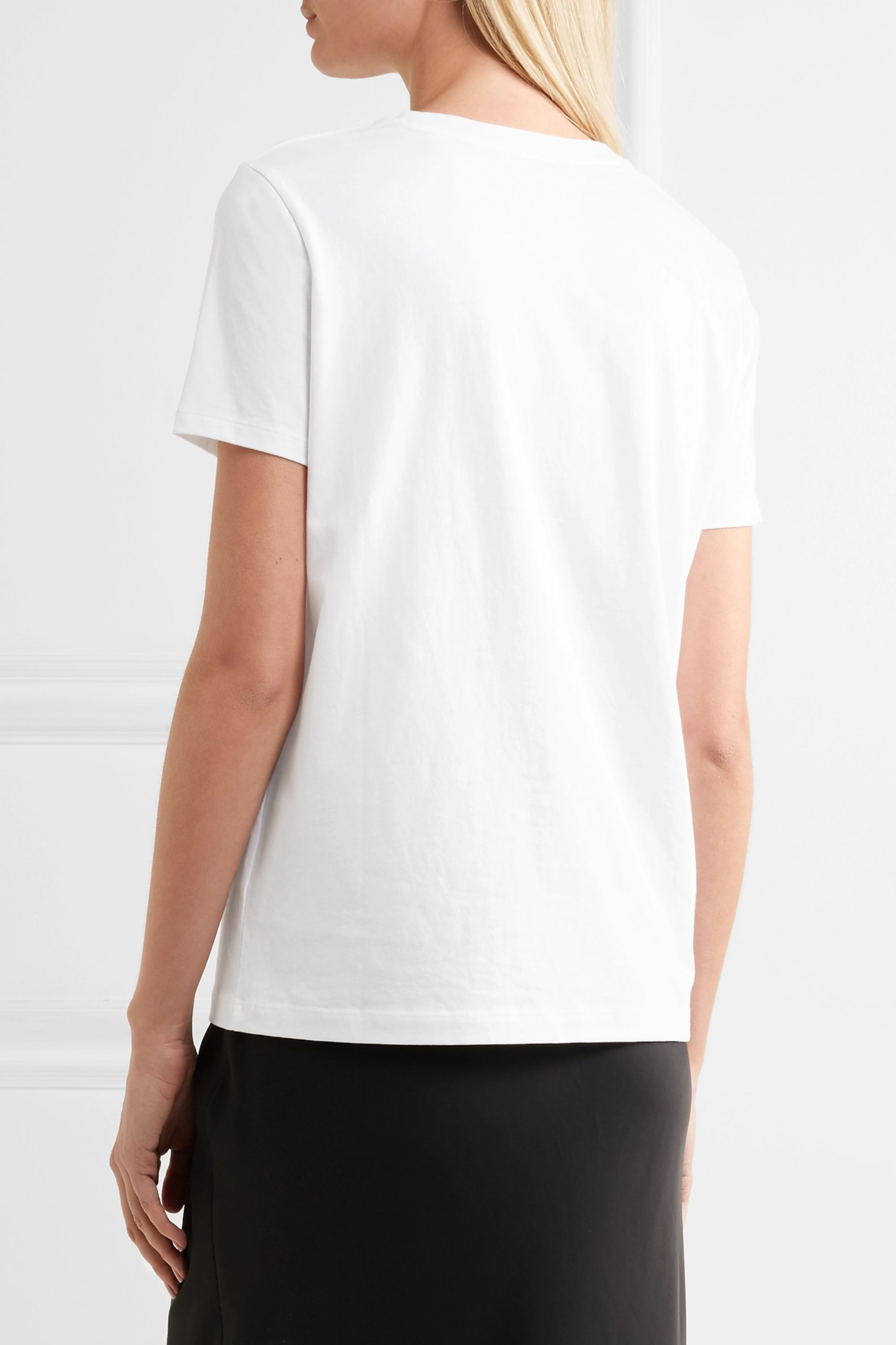 Acne Studios Taline embroidered cotton-jersey T-shirt