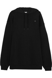 Acne Studios Yala Face oversized embroidered cotton-jersey hooded top