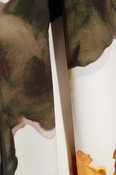 Acne Studios Saleh Asymmetric Printed Crepe Midi Dress