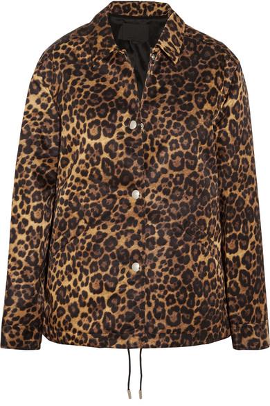 Alexander Wang - Leopard-print Shell Jacket - Leopard print