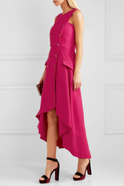 Antonio Berardi Asymmetric stretch-cady midi dress