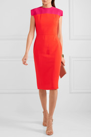 Antonio Berardi Two-tone stretch-cady dress