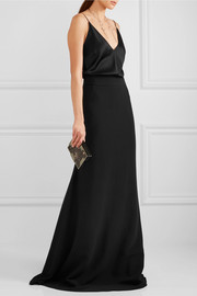 Antonio Berardi Stretch-cady maxi skirt