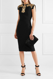 Antonio Berardi Embellished stretch-cady dress