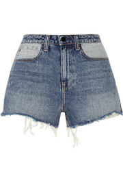 Bite distressed denim shorts