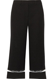 Alexander Wang Cropped crepe wide-leg pants