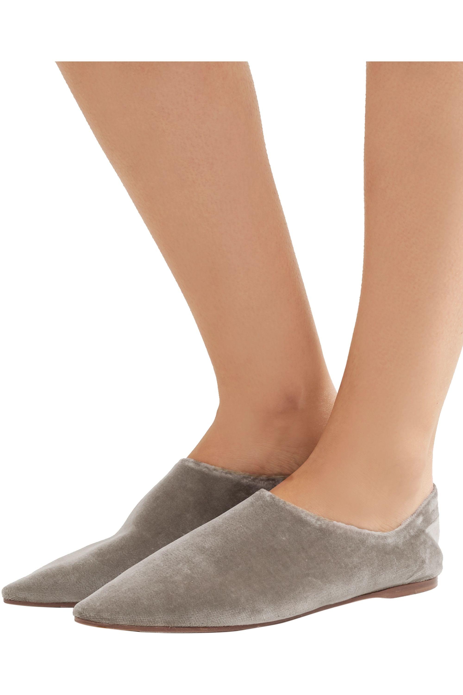 Acne Studios Amina collapsible-heel velvet loafers